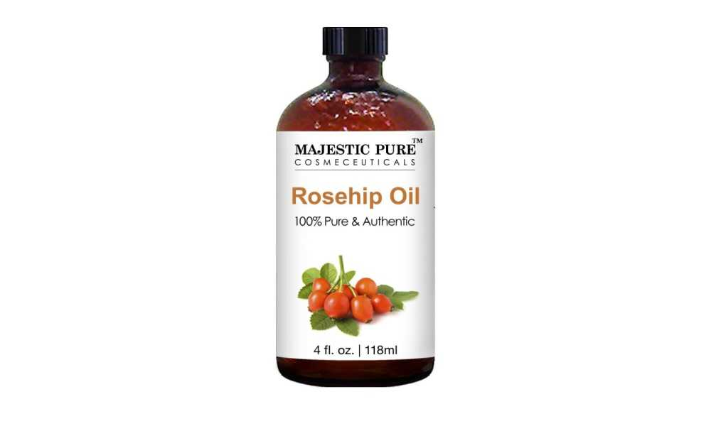 Rosehip Oil for Face, Nails, Hair and Skin from Majestic Pure Review